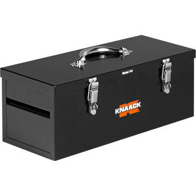 """Knaack 741 Hand Tool Box, 20""""L, 0.75 Cu. Ft., Steel, Black"""