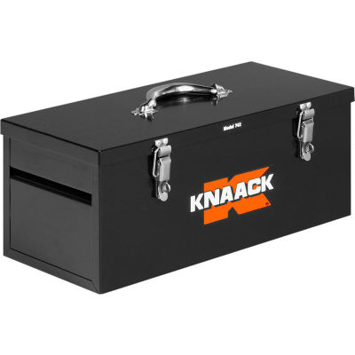 "Knaack 742 Hand Tool Box, 22""L, 1.0 Cu. Ft., Steel, Black"