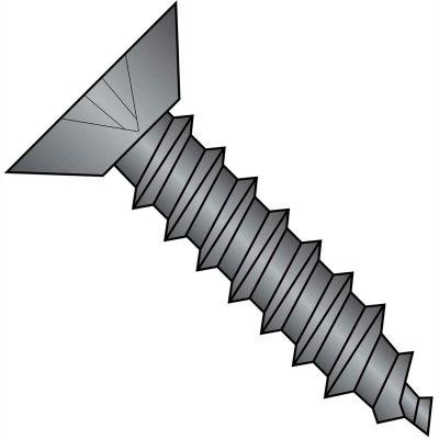 #4 x 1/4 Phillips Flat Undercut Self Tapping Screw Type AB Full Thread Black Zinc - Pkg of 10000