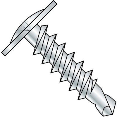 #6 x 3/8 Phillips Modified Truss Head Self Drilling Scew Full Thread Zinc Bake - Pkg of 8000