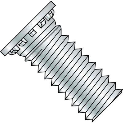 6-32X3/8  Self Clinching Stud Full Thread Hardened Steel Heat Zinc Bake, Pkg of 10000