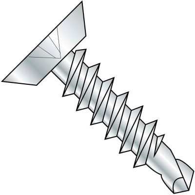 #6 x 5/8 Phillips Flat Undercut Full Thread Self Drilling Screw Zinc Bake - Pkg of 10000