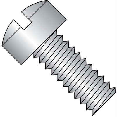 8-32X3/8  Slotted Fillister Machine Screw Fully Threaded 18 8 Stainless Steel, Pkg of 5000