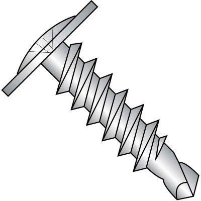 #8 x 1 Phillips Modified Truss Head Full Thread Self Drilling Screw 18-8 Stain Steel - Pkg of 2000