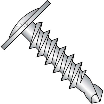 #8 x 1-1/2 Phillips Modified Truss Head FT Self Drill Screw 410 Stainless Steel - Pkg of 1000