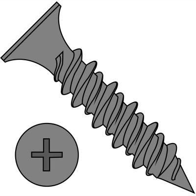 """#8 x 1-5/8"""" High-Low Drywall Screw - Phillips Bugle Head - Black Phosphate - Pkg of 3500"""
