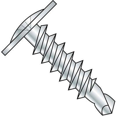 #8 x 2-1/4 Phillips Modified Truss Head Self Drilling Scew Full Thread Zinc Bake - Pkg of 2000
