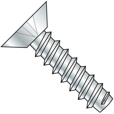 #10 x 1/4 Phillips Flat Undercut Self Tapping Screw Type B Fully Threaded Zinc - Pkg of 10000