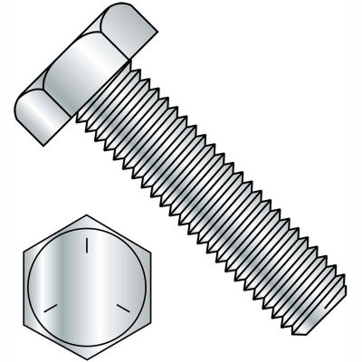 1-8X4  Hex Tap Bolt Grade 5 Fully Threaded Zinc (Pack of 5 Bolts)