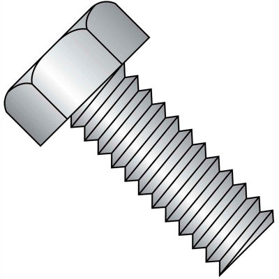 10-24X1  Unslotted Indented Hex Head Machine Screw Full Thrd 18 8 Stainless Steel, Pkg of 2000