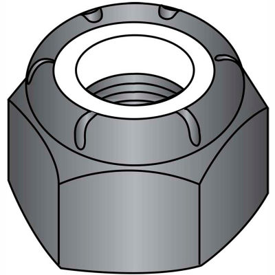10-32  Nylon Insert Hex Lock Nut Black Zinc, Pkg of 2000