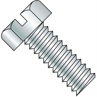 1/4-20X5/8  Slotted Indented Hex Head Machine Screw Fully Threaded Zinc, Pkg of 3500