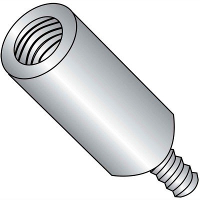 6-32 x 3/4 One Quarter Round Male Female Standoff - Stainless Steel - Pkg of 500