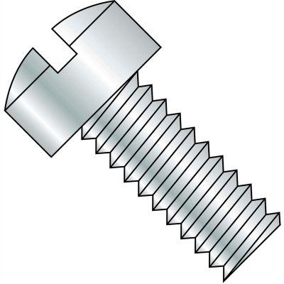 1/4-20X4  Slotted Fillister Head Machine Screw Fully Threaded Zinc, Pkg of 400