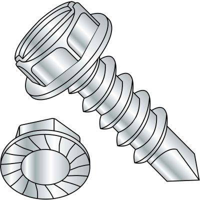 5/16-12X1 1/2  A/F.428-.437 HD Hgt.172-.190 Slot Indhxwash Serrate Self Drill Full Thrd Zinc,600 pcs