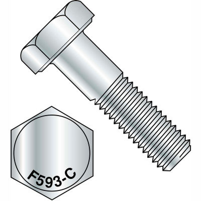 3/8-16X1/2  Hex Cap Screw 18 8 Stainless Steel, Pkg of 100
