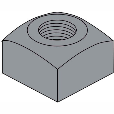 3/4-10  Heavy Square Nut Plain, Pkg of 100