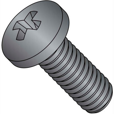M3X8  Din 7985 A Metric Phillips Pan Machine Screw 18-8 Stainless Steel Black Oxide, Pkg of 4000