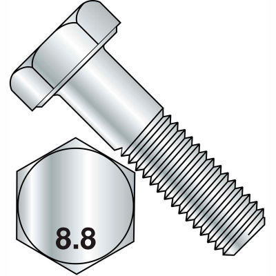 M8X80  Din 931 8 Point 8 Metric Partially Threaded Cap Screw Zinc, Pkg of 200