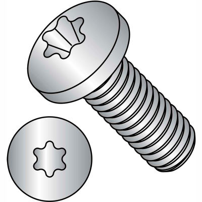M3-.5X6  ISO7045 Metric 6 Lobe T-10 Pan Head Machine Screw 18-8 Stainless Steel, Pkg of 1000