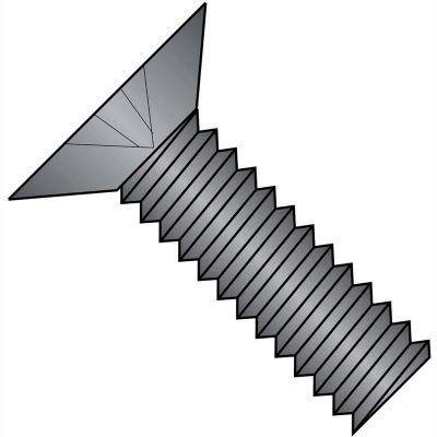 1/4-20 x 1-1/4 MS24693-B Phillips Flat F/T Mach Screw SS - Black Oxide DFAR - Pkg of 1000
