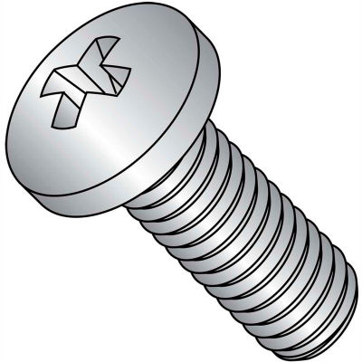 10-32 x 1 MS51958, NAS-1635 Phillips Pan Machine Screw - Fine - Full Thread - S/S - Pkg of 1000