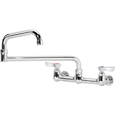 """Krowne 12-818L - Silver Series 8"""" Center Wall Mount Faucet, 18"""" Jointed Spout"""