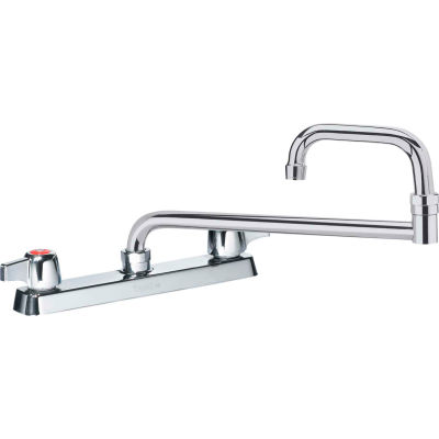 "Krowne 13-818L - Commercial Series 8"" Center Deck Mount Faucet, 18"" Jointed Spout"