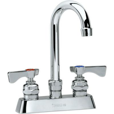 """Krowne 15-301L - Royal Series 4"""" Center Deck Mount Faucet, 6"""" Gooseneck Spout"""