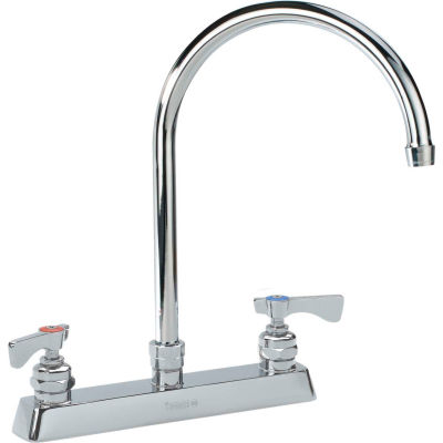 "Krowne 15-502L - Royal Series 8"" Center Deck Mount Faucet, 8-1/2"" Gooseneck Spout"