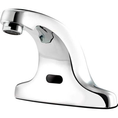 "Krowne® 16-197 Electronic Sensor Operated Deck Mount Faucet, 4"" Center, ADA Compliant, Chrome"