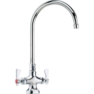 """Krowne 16-302L - Royal Series Single Deck Mount Pantry Faucet, 8-1/2"""" Gooseneck Spout"""
