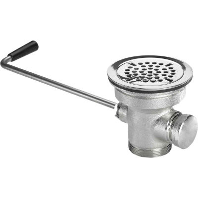 """Krowne 22-204 - 3-1/2"""" Twist Waste Drain with 1-1/4"""" Overflow Outlet (Cap Included)"""