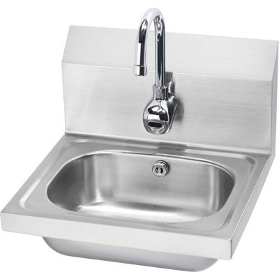 """Krowne® HS-11 16"""" Wide Hand Sink with Electronic Faucet, Electronic Sensor"""
