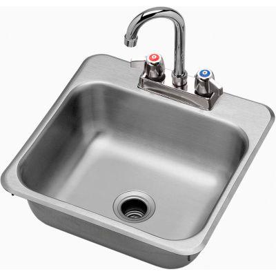 "Krowne® HS-1515 Drop-In Hand Sink 15"" x 15"""