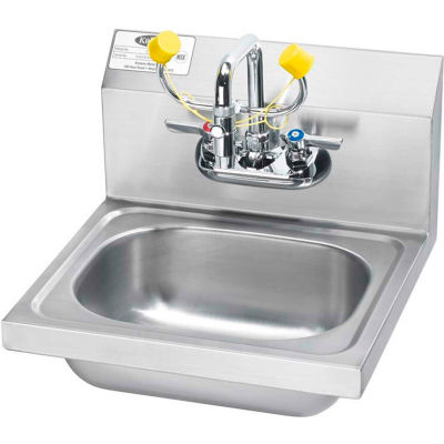 """Krowne® HS-36 16"""" Wide Hand Sink With Eyewash"""