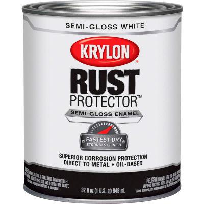 Krylon Rust Preventative Enamel Semi-Gloss White Quart Can K06921300 - Pkg Qty 2