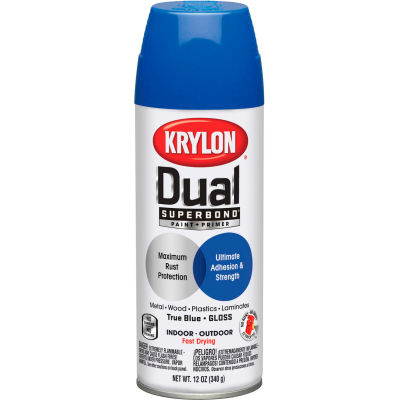 Krylon Dual Paint & Primer Aerosol 12 Oz. Gloss True Blue - K08820001 - Pkg Qty 6