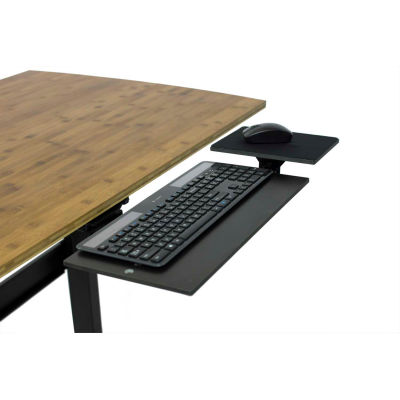 Uncaged Ergonomics KT1-B Adjustable Under Desk Keyboard Tray, Black