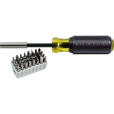 Klein Tools® 32510 Tamperproof Magnetic Screwdriver 32 Bits