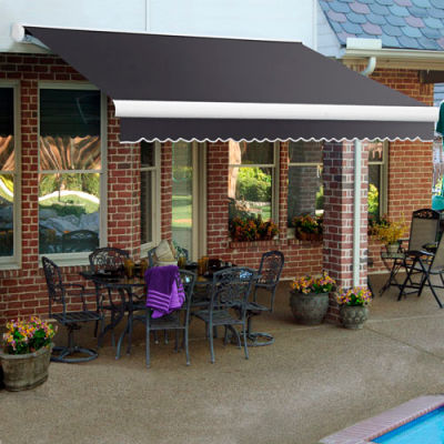 "Awntech KWM12-GUN, Retractable Awning Manual 12'W x 10""D x 10""H Gun Metal Gray"