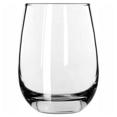 Libbey Glass 231 - White Wine Glass 15.25 Oz., Glassware, Stemless, 12 Pack