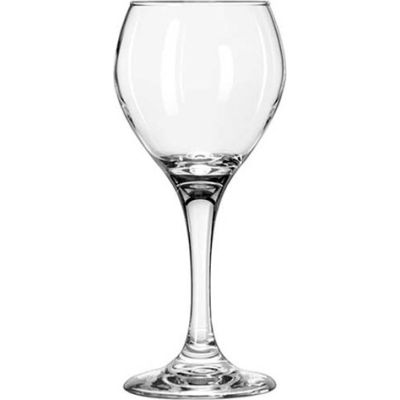Libbey Glass 3064 - Wine Glass 8 Oz., Clear Red Perception, 24 Pack