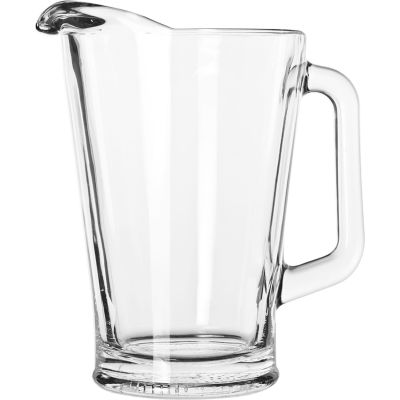 Libbey Glass 5260 - Glass Pitcher 60 Oz., Clear, 6 Pack
