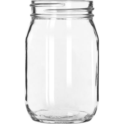 Libbey Glass 92103 - Drinking Jar 16 Oz., 12 Pack