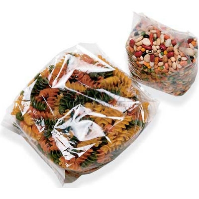 """Gusseted Polypropylene Bags, 3-1/2"""" x 2-1/4"""" x 9-3/4"""" 1.5 Mil Clear, 1000/CASE"""