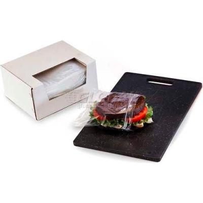 "Reclosable Sandwich Bags in Dispenser Box, 6-1/2""W x 6""L 1 Mil Clear, 500/CASE"
