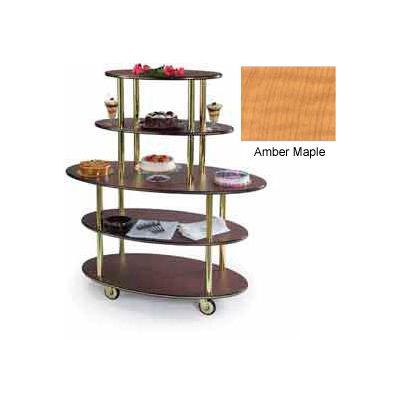 Geneva Lakeside Oval Dessert Display Cart w/ 5 Open Shelves, 37212-10