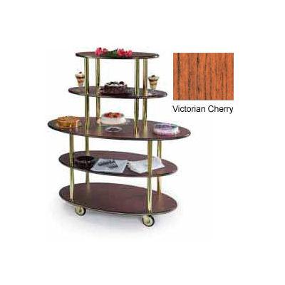 Geneva Lakeside Oval Dessert Display Cart w/ 5 Shelves, 37212-02