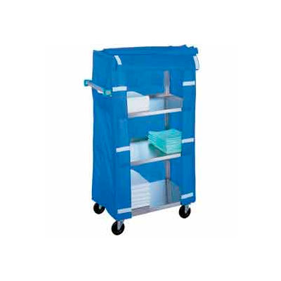 Lakeside® 470 Stainless Steel Linen Service Cart with Nylon Cover, 500 lbs. Capacity